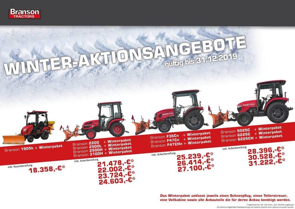 Kompakttraktor mit Winterpaket